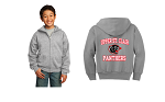 USC Port & Company® Youth Core Fleece Full-Zip Hooded Sweatshirt (adult sizes too/choose grey or black)